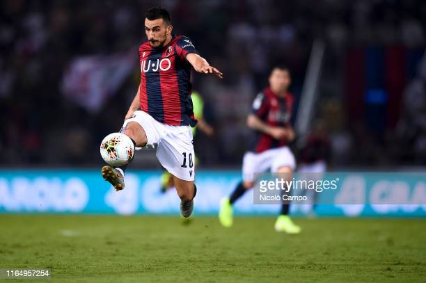 Nicola Sansone of Bologna FC in action during the Serie A football match between Bologna FC and SPAL Bologna FC won 10 over SPAL