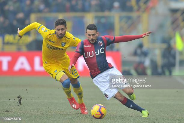 Nicola Sansone of Bologna FC in action during the Serie A match between Bologna FC and Frosinone Calcio at Stadio Renato Dall'Ara on January 27 2019...