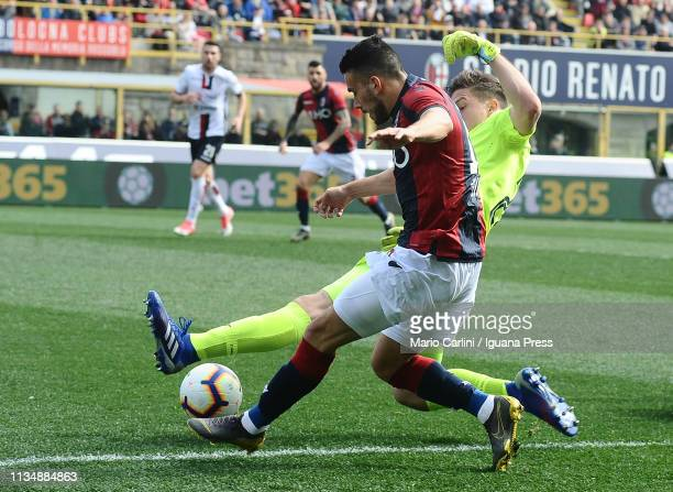 Nicola Sansone of Bologna FC in action during the Serie A match between Bologna FC and Cagliari at Stadio Renato Dall'Ara on March 10 2019 in Bologna...