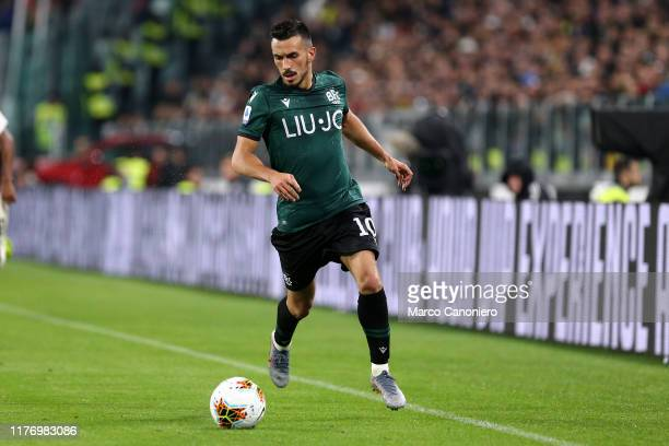 Nicola Sansone of Bologna Fc in action during the Serie A match between Juventus Fc and Bologna Fc Juventus Fc wins 21 over Bologna Fc