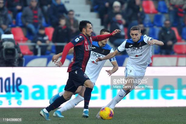 Nicola Sansone of Bologna FC in action during the Serie A match between Bologna FC and Atalanta BC at Stadio Renato Dall'Ara on December 15 2019 in...