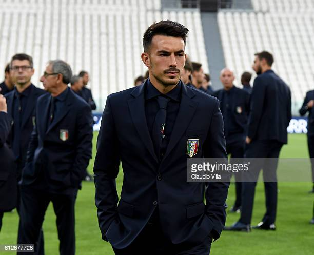 Nicola Sansone of Italy attends prior to the press conference at Juventus Stadium on October 5 2016 in Turin Italy