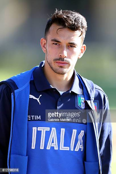 Nicola Sansone of Italy during the training session at Coverciano on October 5 2016 in Florence Italy