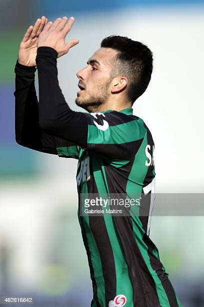 Nicola Sansone of US Sassuolo Calcio celebrates after scoring a goal during the Serie A match between US Sassuolo Calcio and FC Internazionale Milano...
