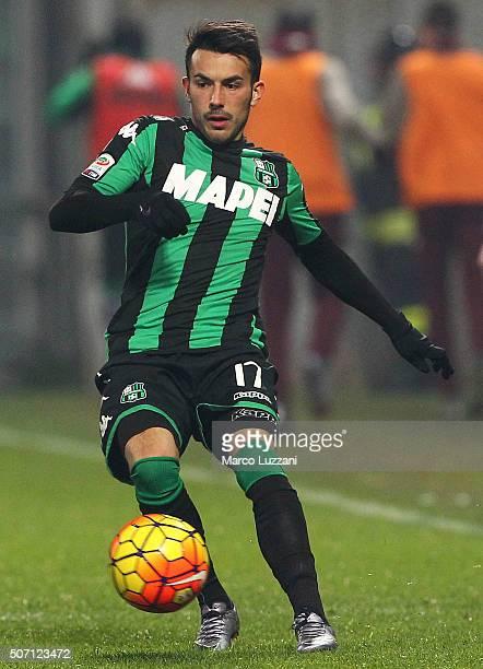 Nicola Sansone of US Sassuolo Calcio in action during the Serie A match betweeen US Sassuolo Calcio and Torino FC at Mapei Stadium Città del...