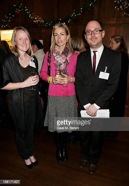 Nicola Sharp Kate McCann and Ross Miller attend the Missing People Carol Service at StMartinInTheFields Trafalgar Square on December 10 2012 in...