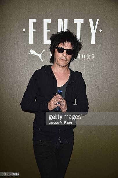 Nicola Sirkis arrives at FENTY x PUMA by Rihanna at Hotel Salomon de Rothschild on September 28 2016 in Paris France