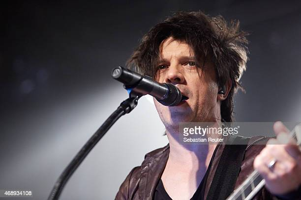 Nicola Sirkis of Indochine performs at Postbahnhof on April 8 2015 in Berlin Germany