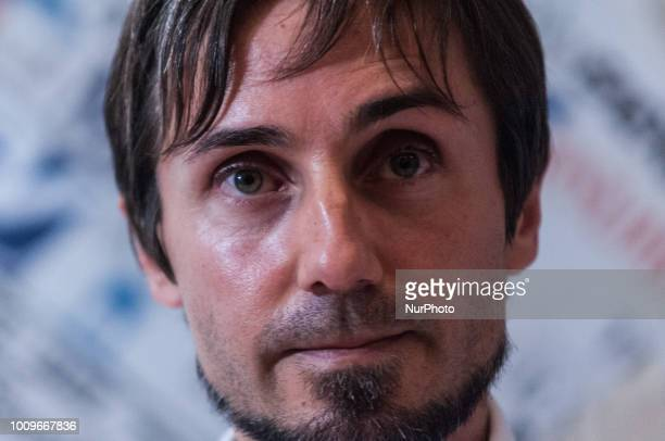 Nicola Stalla during the press conference of SOS Mediteranee in Rome Italy on August 2 2018