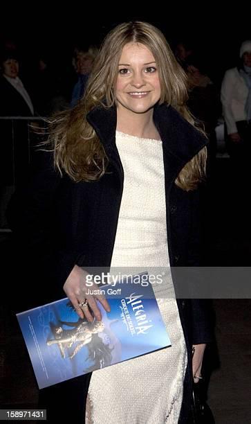 Nicola Stapleton Attends The 'Cirque Du Soleil Alegria' Press Night At London'S Royal Albert Hall