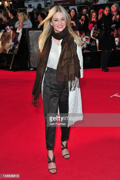 Nicola Stapleton attends The Lucky One European premiere at the Chelsea Cinema on April 23 2012 in London England
