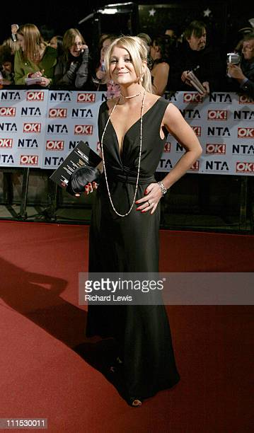 Nicola Stapleton during 12th Anniversary National Television Awards Arrivals at Royal Albert Hall in London Great Britain