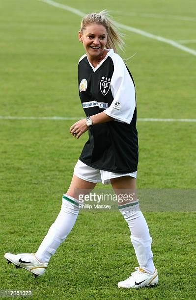 Nicola Stapleton during Derry FC Celebrity Football Match at Brandywell Stadium in Derry Ireland
