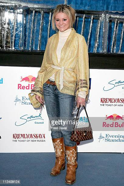 Nicola Stapleton during Ice Space Launch Party Outside Arrivals at Tower Bridge in London Great Britain