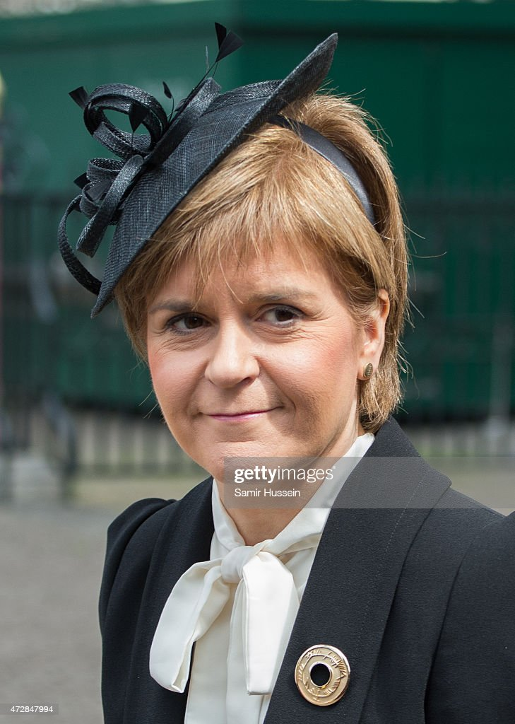 Nicola Sturgeon attends a Service of Thanksgiving to mark the 70th anniversary of Victory in Europe at Westminster Abbey on May 10, 2015 in London, England.