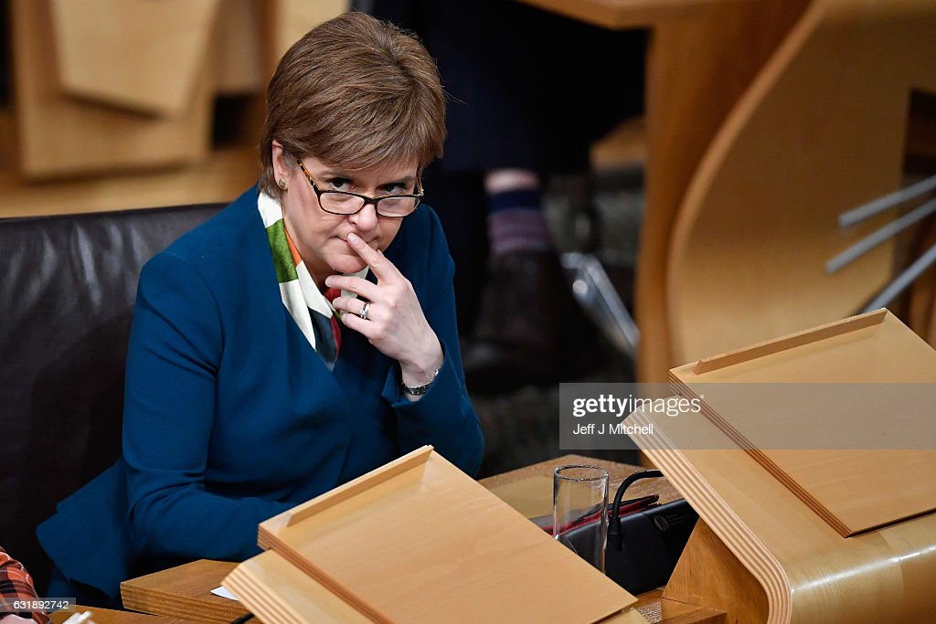 The Scottish Parliament Debates Brexit After Theresa May's Speech : News Photo