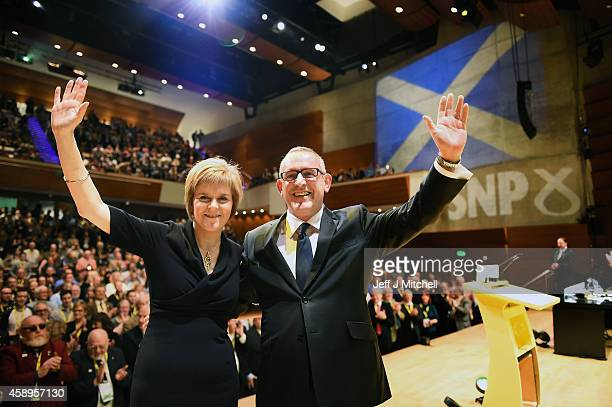 Nicola Sturgeon is formally announced as the new leader of the SNP and Stewart Hosie MP replaces her as deputy leader at the partys annual conference...