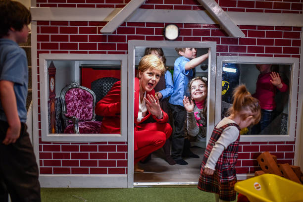 GBR: Nicola Sturgeon Visits Children's Nursery