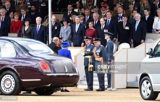 Nicola Sturgeon Queen Elizabeth II Prince Phillip Duke of Edinburgh Teresa May Michael Fallon Prince William Duke of Cambridge Catherine Duchess of...