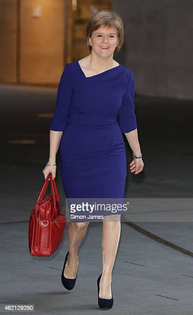 Nicola Sturgeon sighting at the BBC studios on January 25 2015 in London England
