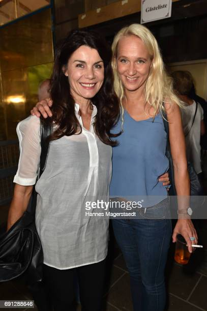 Nicola Tiggeler and Annik Wecker during Konstantin Wecker's 70th birthday at Circus Krone on June 1 2017 in Munich Germany