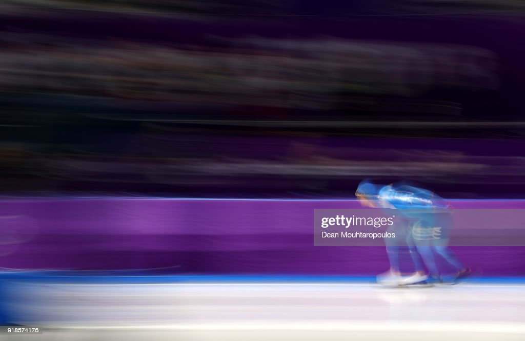 Nicola Tumolero of Italy competes during the Speed Skating Men's 10,000m on day six of the PyeongChang 2018 Winter Olympic Games at Gangneung Oval on February 15, 2018 in Gangneung, South Korea.