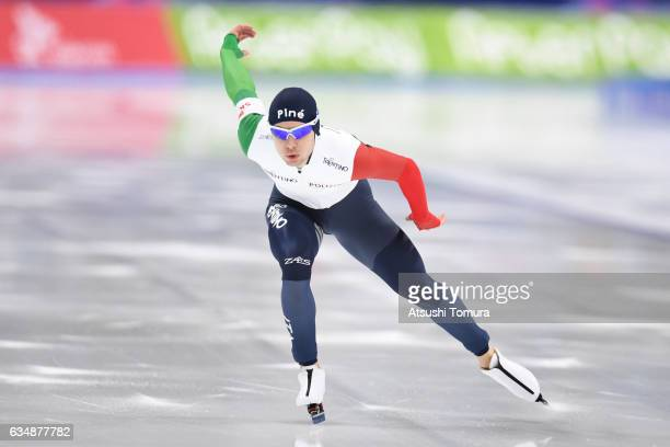 Nicola Tumoloro of Italy competes in the men 1500m during the ISU World Single Distances Speed Skating Championships Gangneung Test Event For...