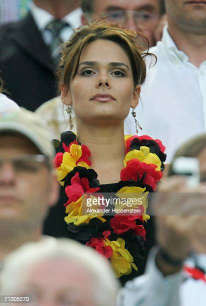 Nicola Valentina the girlfriend from the German defender Philipp Lahm looks on during the FIFA World Cup Germany 2006 Group A match between Germany...
