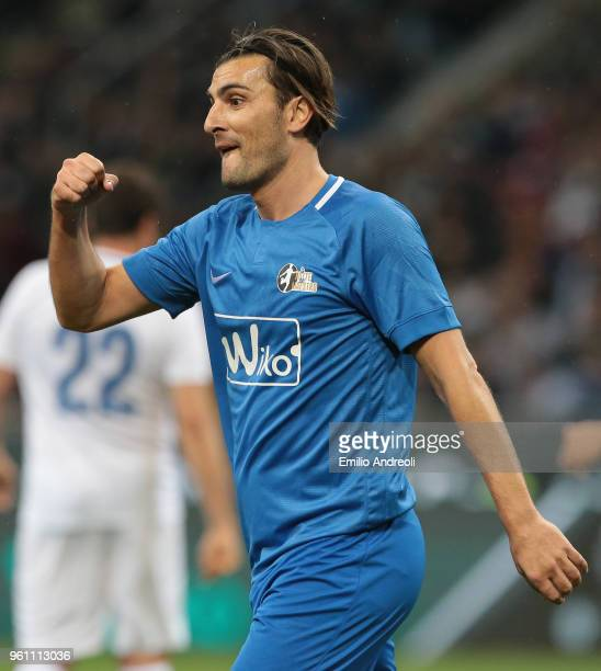 Nicola Ventola gestures during Andrea Pirlo Farewell Match at Stadio Giuseppe Meazza on May 21 2018 in Milan Italy