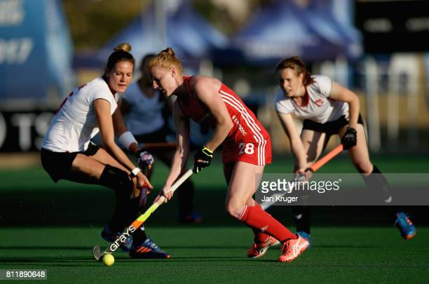 Nicola White of England in action during day 2 of the FIH Hockey World League Semi Finals Pool A match between England and Poland at Wits University...
