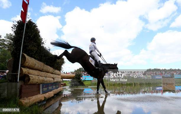 Nicola Wilson of Great Britain rides Bulana during the CIC 4 star cross country at the Messmer Trophy on June 17 2017 in Luhmuhlen Germany