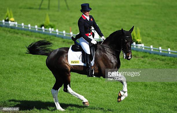 Nicola Wilson of Great Britain riding Beltane Queen during the dressage on day three of the Badminton Horse Trials on May 9 2014 in Badminton England