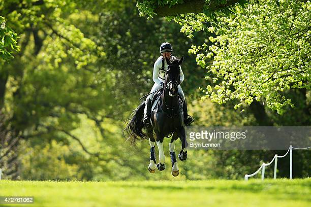 Nicola Wilson of Great Britain riding Beltane Queen during the CrossCountry Test at the Badminton Horse Trials 2015 on May 9 2015 in Badminton...