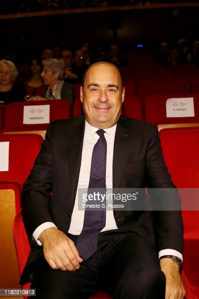 Nicola Zingaretti attends the The Irishman screening during the 14th Rome Film Festival on October 21 2019 in Rome Italy