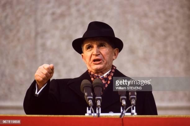Nicolae Ceausescu le 24 novembre 1989 Roumanie