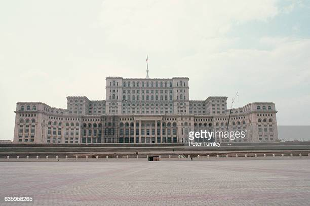 Nicolae Ceausescu's last major project the House of the People in Bucharest in August 1989 The massive expensive palace intended to hold government...