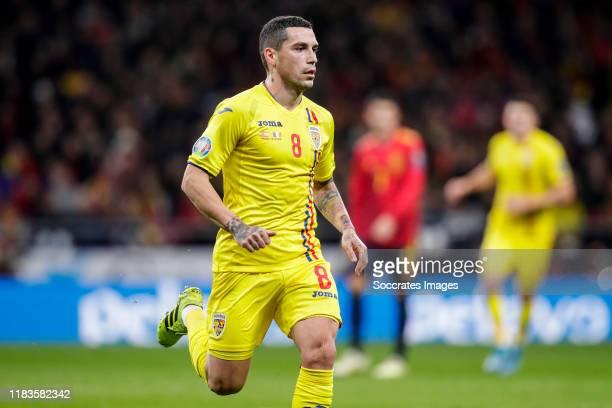 Nicolae Stanciu of Romania during the EURO Qualifier match between Spain v Romania at the Wanda Metropolitano stadium on November 18, 2019