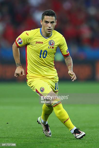 Nicolae Stanciu of Romania during the UEFA EURO 2016 Group A match between Romania and Albania at Stade des Lumieres on June 19, 2016 in Lyon, France.