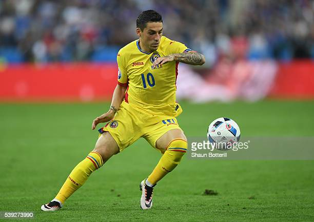 Nicolae Stanciu of Romania in action during the UEFA Euro 2016 Group A match between France and Romania at Stade de France on June 10, 2016 in Paris,...
