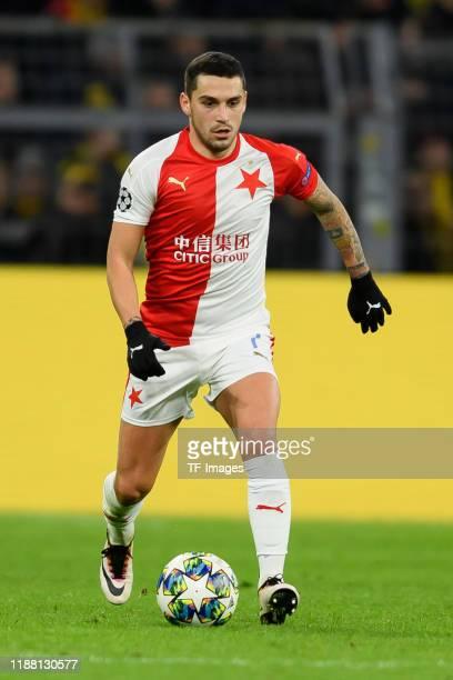 Nicolae Stanciu of Slavia Praha controls the ball during the UEFA Champions League group F match between Borussia Dortmund and Slavia Praha at Signal...