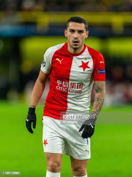 Nicolae Stanciu of Slavia Praha looks on during the UEFA Champions League group F match between Borussia Dortmund and Slavia Praha at Signal Iduna...