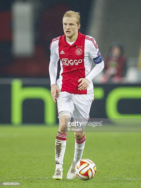 Nicolai Boilesen of Ajax during the Europa League round of 16 match between FC Dnipro Dnipropetrovsk and Ajax on March 11 2015 at the NSK Olimpiyskyi...