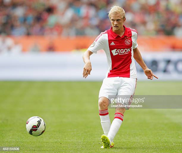 Nicolai Boilesen of Ajax in action during the 19th Johan Cruijff Shield match between Ajax Amsterdam and PEC Zwolle at the Amsterdam ArenA on August...