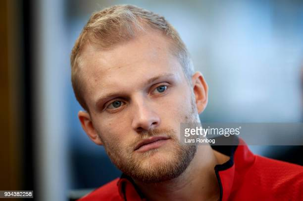 Nicolai Boilesen of Denmark during the Denmark press conference at Clarion Hotel Copenhagen Airport on March 19 2018 in Copenhagen Denmark