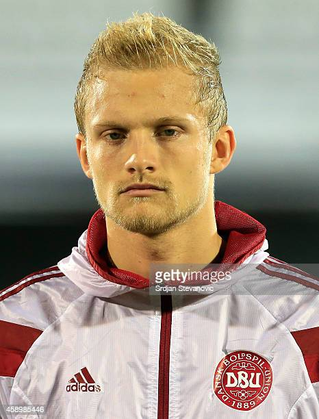 Nicolai Boilesen of Denmark prior the Euro 2016 group I qualifying football match between Serbia and Denmark at Partizan Stadium on November 14 2014...