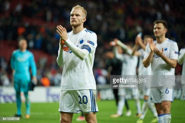 Nicolai Boilesen of FC Copenhagen after the UEFA Europa League Group Stage match between FC Copenhagen and Lokomotiv Moskva at Telia Parken Stadium...