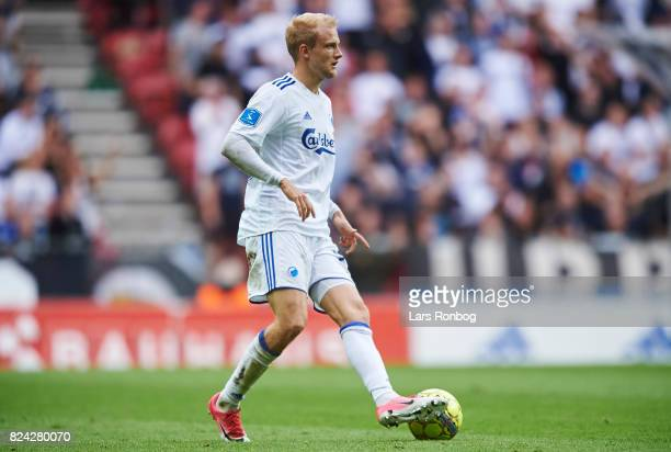 Nicolai Boilesen of FC Copenhagen controls the ball during the Danish Alka Superliga match between FC Copenhagen and Hobro IK at Telia Parken Stadium...