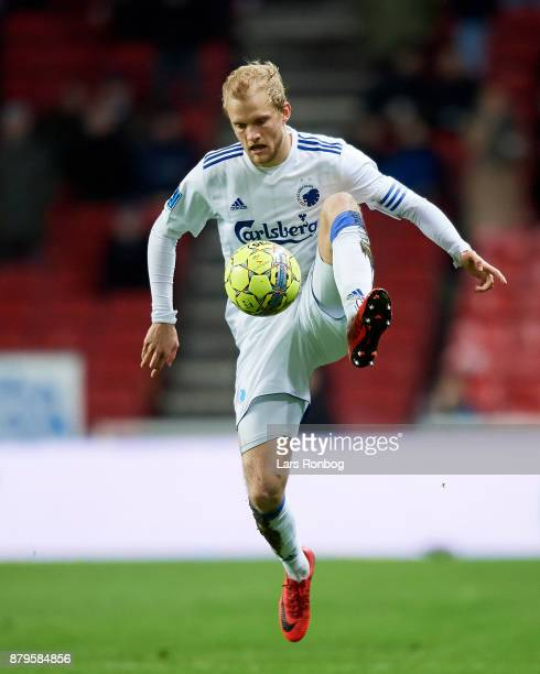 Nicolai Boilesen of FC Copenhagen controls the ball during the Danish Alka Superliga match between FC Copenhagen and Lyngby BK at Telia Parken...