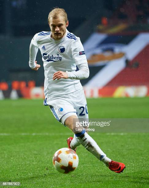 Nicolai Boilesen of FC Copenhagen controls the ball during the UEFA Europa League match between FC Copenhagen and FC Sheriff at Telia Parken Stadium...