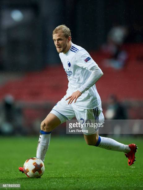 Nicolai Boilesen of FC Copenhagen controls the ball during the UEFA Europa League match between FC Copenhagen and FC Sheriff at Telia Parken Stadium...